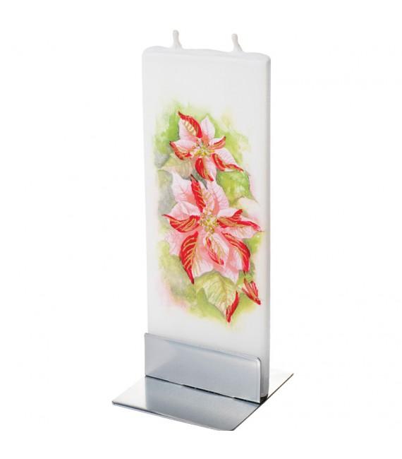 Bougie décorative Poinsettia