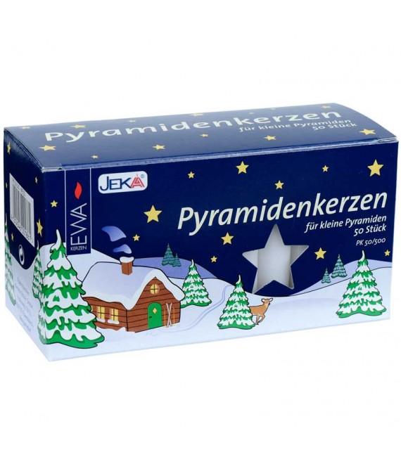 Lot 100 Bougies de Noël pour pyramide, pyramidenkerzen 14 mm