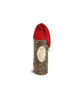 Lutin père Noël en bois avec bonnet rouge, 8 cm