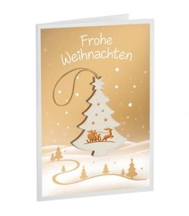 Carte de Voeux sapin de Noël, motif Père Noël