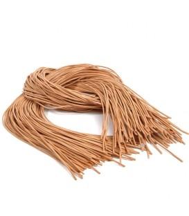 10 cordelettes en cuir pour suspensions de sapin