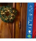 Couronne de sapin extérieur à LED, 45 cm
