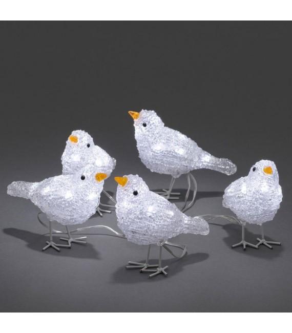 d coration de no l exterieur 5 oiseaux lumineux led