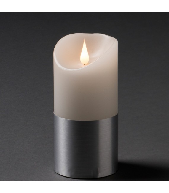 bougie led flamme vacillante argent 15 5 cm bougie electrique. Black Bedroom Furniture Sets. Home Design Ideas
