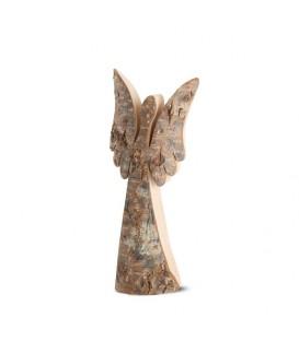 Ange de Noël en bois, série Luciano 18 cm
