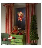 Père Noël lumineux qui salue