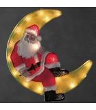 Père Noël lumineux sur la lune