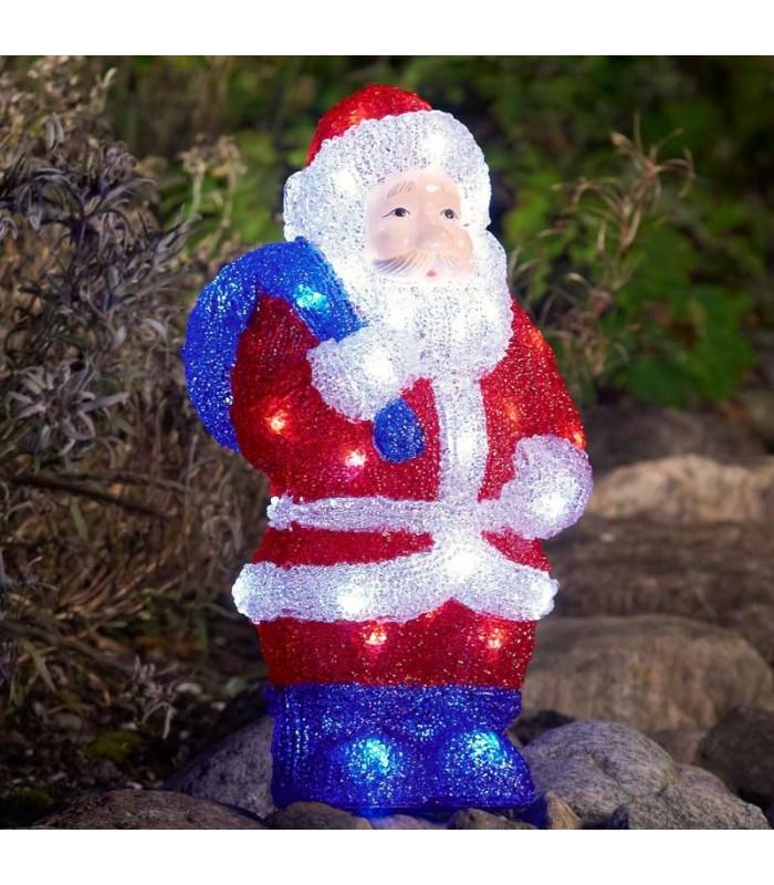 Père Noël lumineux 36 cm   Déco Noël lumineuse extérieur LED 5bc30dfa4465