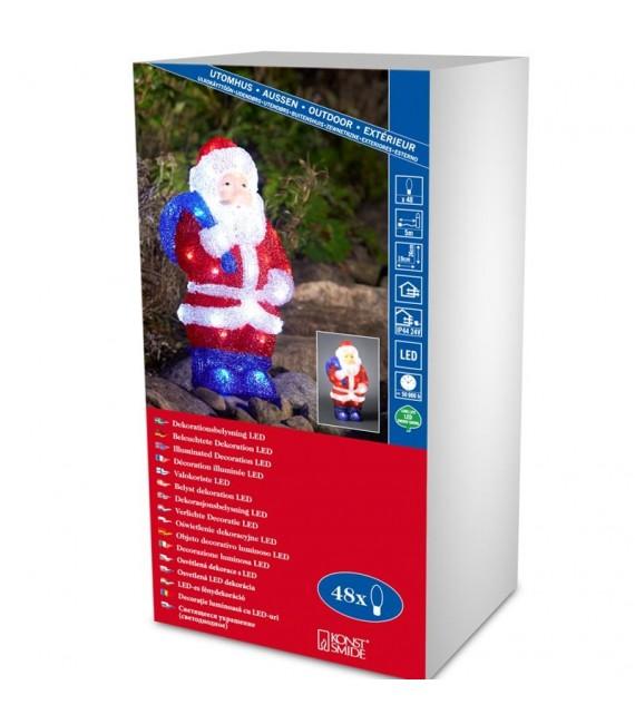Père Noël lumineux à LED pour extérieur, 36 cm