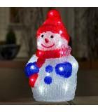 Petit bonhomme de neige lumineux à LED pour extérieur, 31 cm