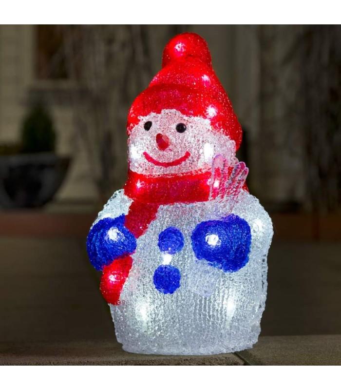 bonhomme de neige lumineux 31 cm d co no l ext rieur led. Black Bedroom Furniture Sets. Home Design Ideas