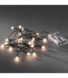 Guirlande LED à pile ,20 diodes rondes