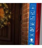 Couronne de sapin extérieur à LED, 60 cm