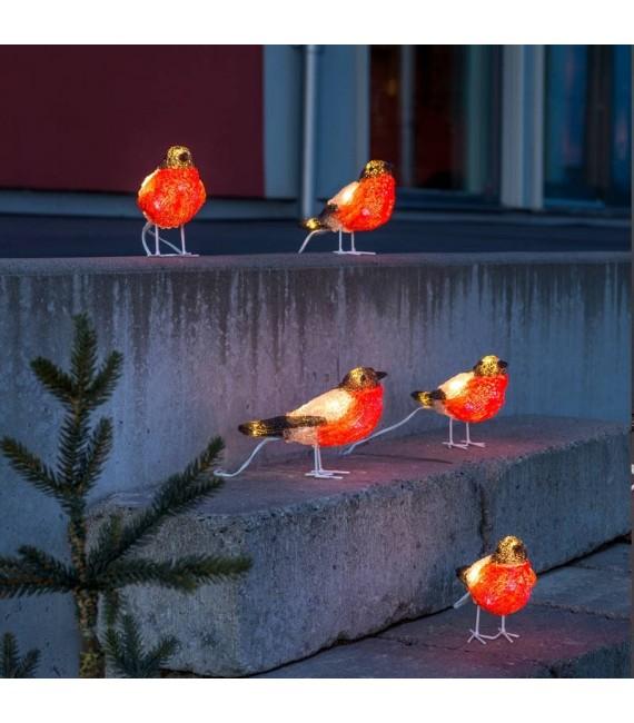 Oiseaux lumineux Led, 5 rouge-gorge