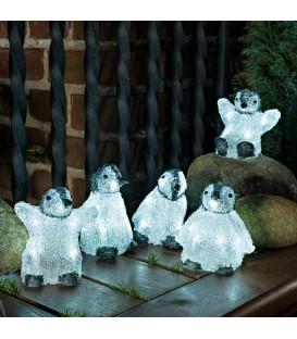Bébés pingouins lumineux Led en acrylique, 12,5 cm