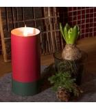 Bougie LED à flamme vacillante, rouge,15,5 cm