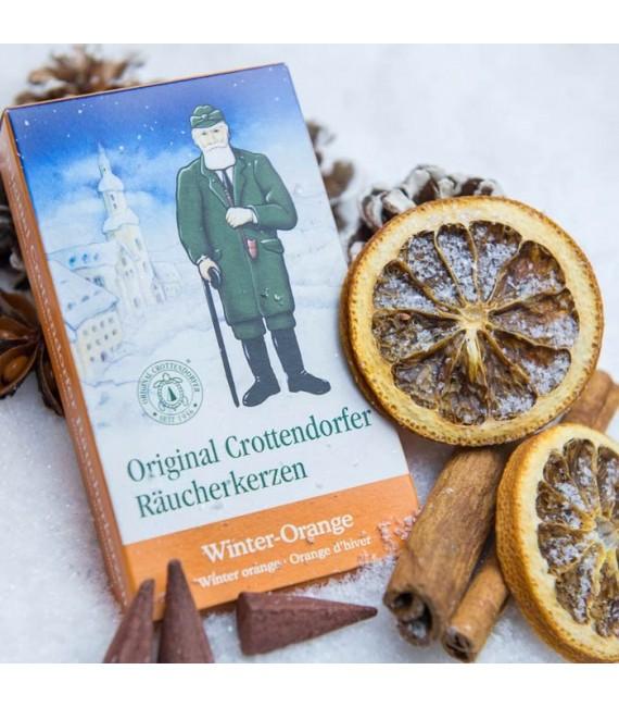 Cone d'encens senteur orange de Noël