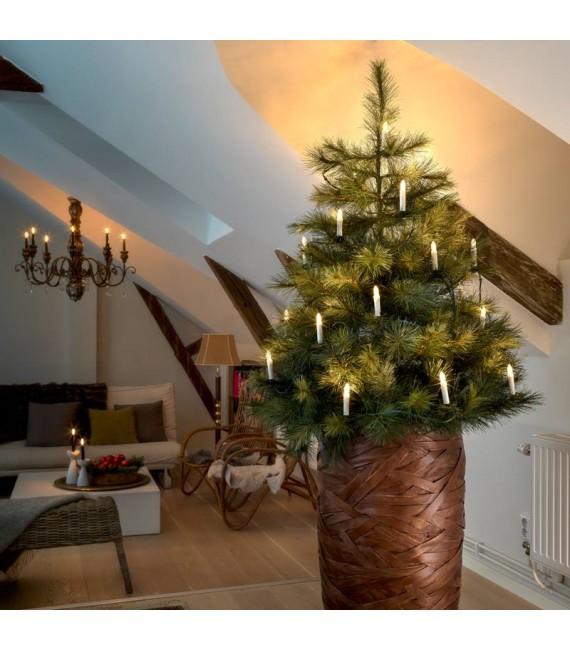 Guirlande lumineuse sapin de Noël, 15 ampoules LED