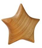 Etoile en bois poli à suspendre 9 cm