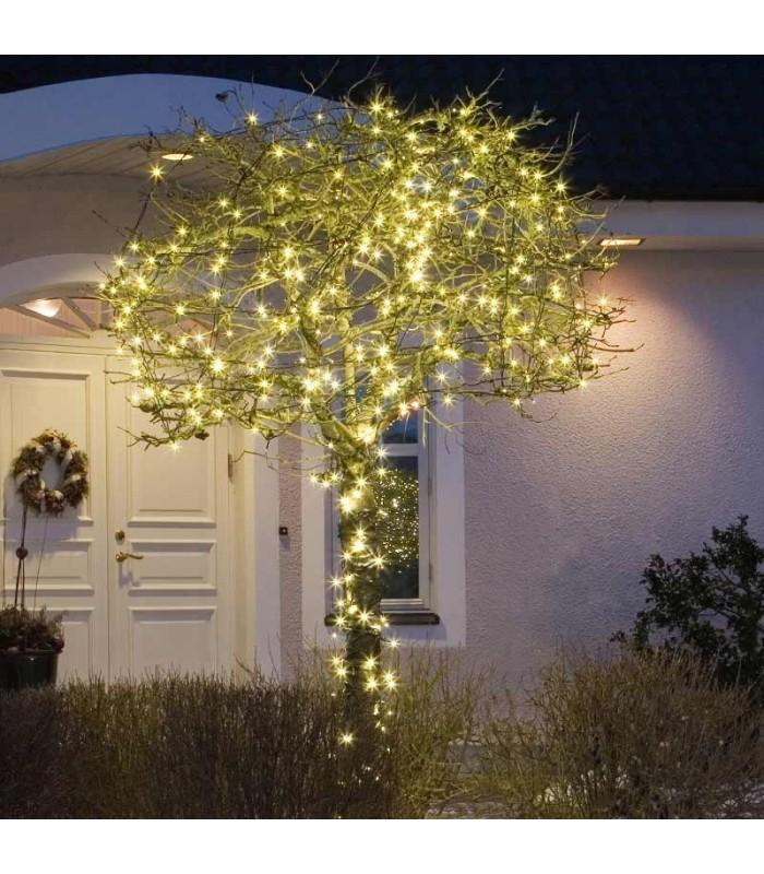 Decoration De Noel Exterieur Lumineuse.Guirlande Lumineuse Led Extérieur Pour Illumination Noël Jardin 80 Diodes