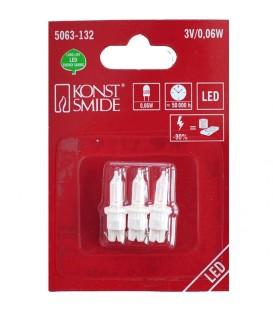 Ampoule LED de rechange pour guirlandes électriques 3V, 0,06W