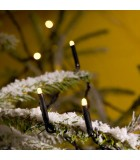Guirlande lumineuse LED extérieur pour illumination Noël du jardin, 20 diodes