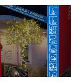 Guirlande lumineuse LED extérieur pour illumination Noël jardin, 200 diodes
