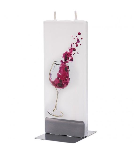 Bougie design verre de vin rouge