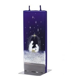 Bougie de Noël nativité et ciel étoilé