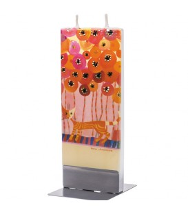 Bougie design Rosina Wachtmeister, chat dans les fleurs