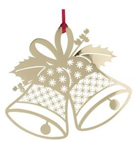 Cloches de Noël en métal doré à accrocher