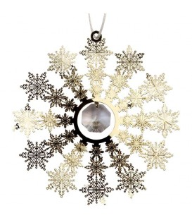 Deco sapin design, flocon de neige avec cristal