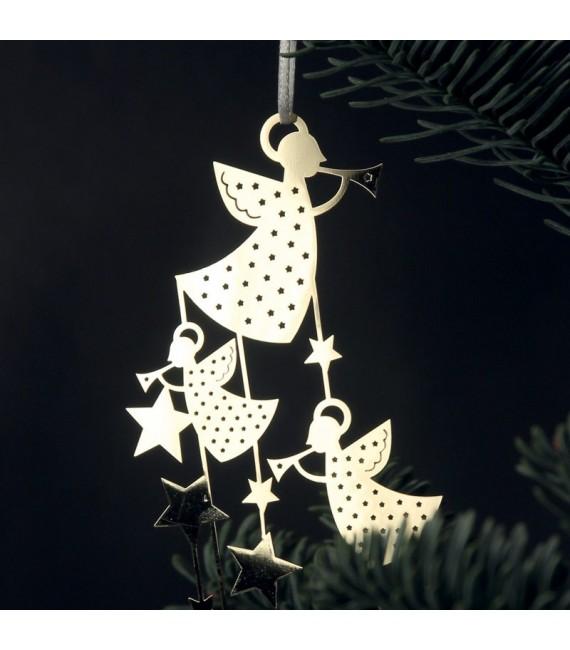 Deco sapin design, anges avec étoiles