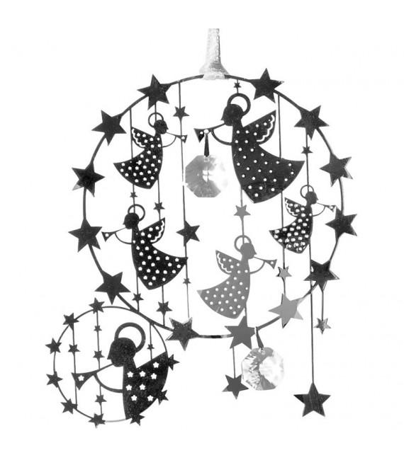 Deco sapin de Noël design à suspendre, anges avec étoiles