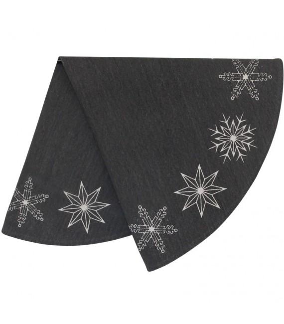 Tapis pour sapin de Noël, motif étoiles