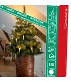 Guirlande lumineuse sapin de Noël, 20 ampoules LED