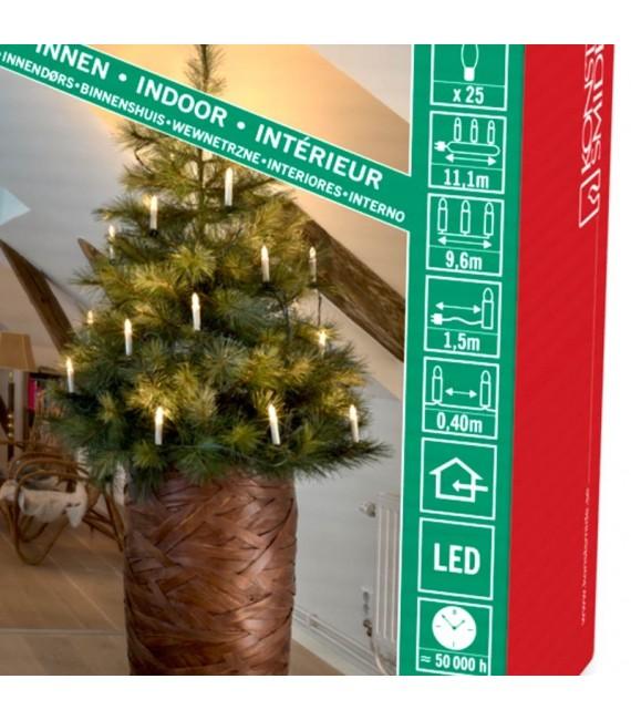 Guirlande lumineuse sapin de Noël, 25 ampoules LED