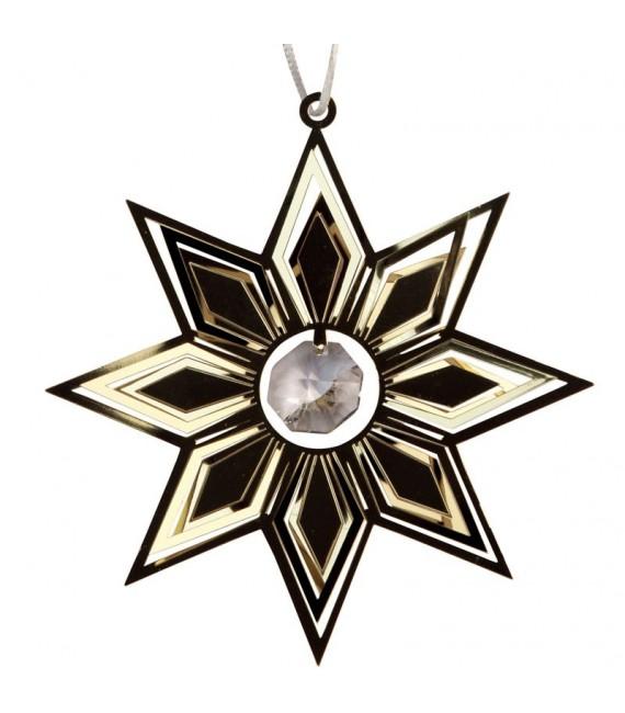 Deco sapin de Noël design, étoile avec cristal