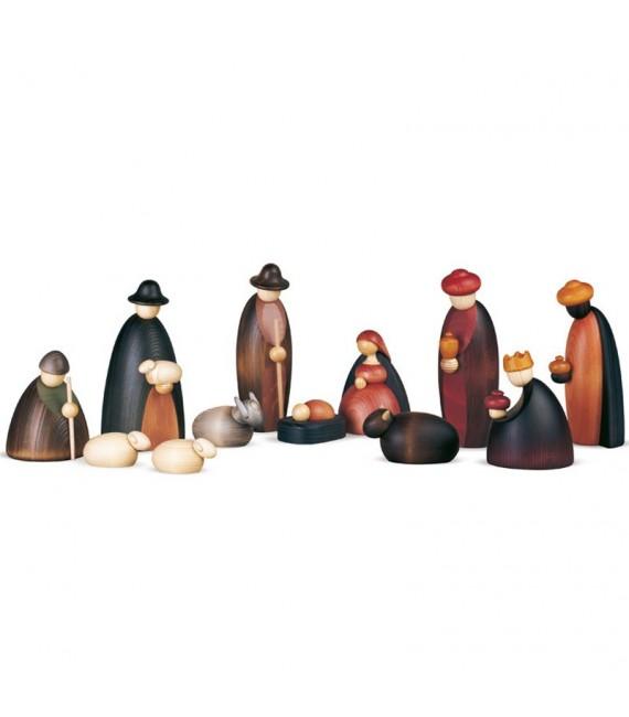 Grande crèche de Noël avec 12 personnages 17 cm