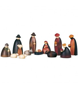 Crèche de Noël complète avec 12 personnages 17 cm