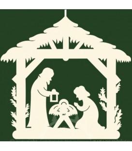 Crèche de Noël à suspendre, étable