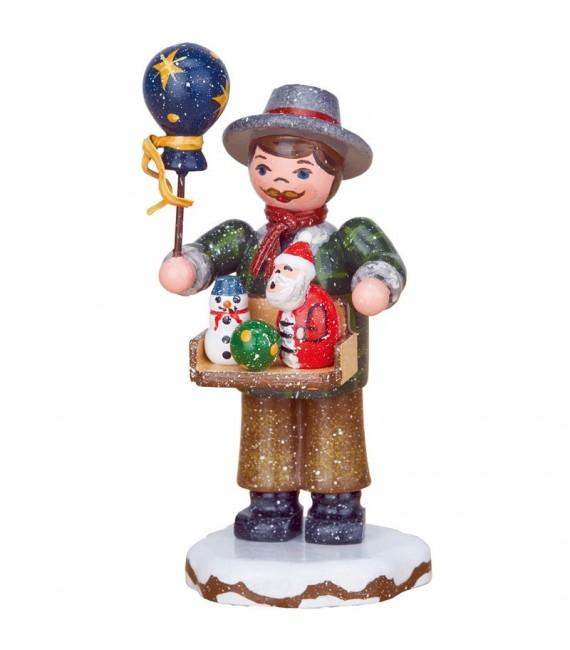 Village de Noël miniature, vendeur de jouets