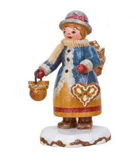 Village de Noël miniature, figurine enfant maman gateau