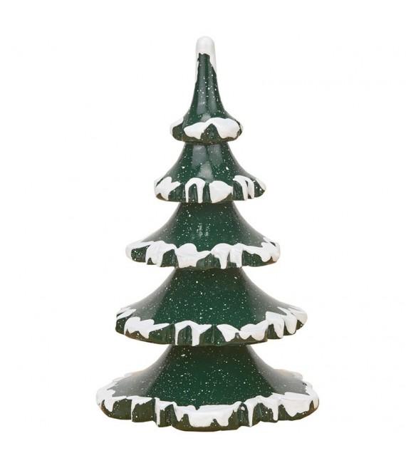 Village de Noël miniature, figurine enfant, 2 sapins 11 cm