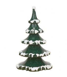 Village de Noël miniature, 2 sapins 11 cm