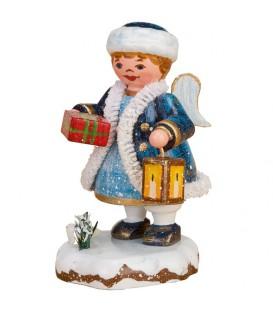 Village de Noël miniature, figurine ange avec paquet