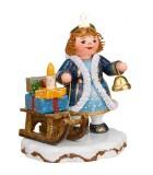 Village de Noël miniature, figurine ange luge et cadeaux
