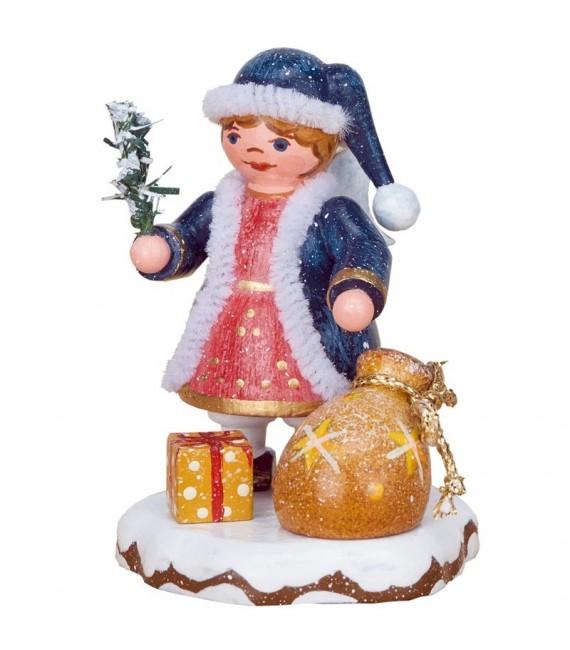 Village de Noël miniature, figurine ange sac à jouets