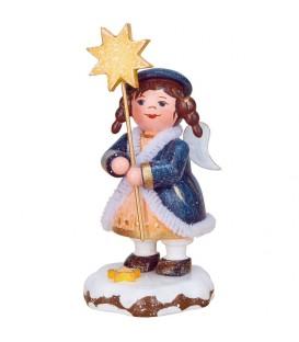 Village de Noël miniature, figurine ange et étoile