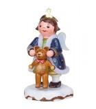 Village de Noël miniature, figurine ange et ourson